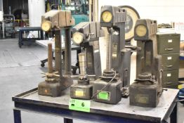 LOT/ (4) ROCKWELL HARDNESS TESTERS WITH CART (NOT IN SERVICE)