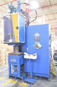 MAPLAN (2002) MTTF 100P/40C 45 TON CAPACITY DOWN ACTING VERTICAL C-FRAME TYPE RUBBER INJECTION
