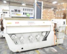 """DAVIS STANDARD TERMATIC III 35OS 3.5"""" SINGLE SCREW EXTRUDER WITH 80"""" AIR COOLED BARREL, (5) ZONE"""