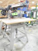 """CRAFTSMAN 10"""" RADIAL ARM SAW WITH STAND, LASER GUIDE, 120-240V/1PH/60HZ, S/N BX161164285 [RIGGING"""