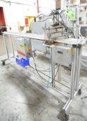 """LAUREN MANUFACTURING HBC-001 PORTABLE IN-LINE PNEUMATIC SHEAR WITH 3.75"""" MAX WIDTH CAPACITY, S/N N/A"""