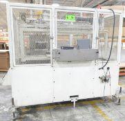 ESI DOWN CUT SLIDING SAW WITH KOLLMORGEN PLC CONTROL, SAFETY CAGE ENCLOSURE, 480V/3PH/60HZ, S/N N/