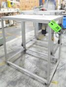 LOT/ (2) MFG UNKNOWN ALUMINUM ROUTER TABLE AND ALUMINUM PROFILE CUSTOM WORK STATION, S/N N/A (LPP-