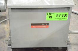 REX 30KVA/600-240V/3PH/60HZ TRANSFORMER, S/N N/A (CI) [RIGGING FEES FOR LOT #1118 - $50 USD PLUS