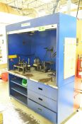 LANDAU QUALITY CONTROL GAGING STATION WITH GAGES AND ROLL-UP DOOR, S/N N/A