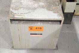 REX 60KVA/600-380-220V/3PH/60HZ TRANSFORMER (CI) [RIGGING FEES FOR LOT #415 - $50 USD PLUS