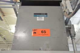 REX 45KVA/600-208-120V/3PH/60HZ TRANSFORMER (CI) [RIGGING FEES FOR LOT #65 - $50 USD PLUS APPLICABLE