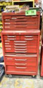 LOT/ ROLLING TOOLBOX WITH CONTENTS CONSISTING OF HAND TOOLS AND HARDWARE