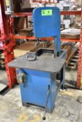 MFG UNKNOWN VERTICAL ROLL-IN BANDSAW, S/N: N/A [RIGGING FEE FOR LOT #6 - $75 CAD PLUS APPLICABLE