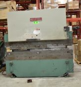 ALLSTEEL 45-8 45TON CAPACITY 8' MECHANICAL BRAKE PRESS WITH BACK GAUGE, UP TO 20GA MATERIAL