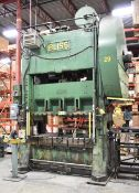 """BLISS S2-200-72-42 200TON CAPACITY STRAIGHT SIDE STAMPING PRESS WITH 42""""X71"""" BOLSTER, 25""""X19"""" SIDE"""