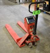 5,000LB CAPACITY HYDRAULIC PALLET JACK WITH DIGITAL SCALE, S/N: S523999