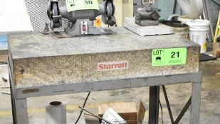 """STARRETT 36""""X24""""X6"""" GRANITE SURFACE PLATE WITH STAND, S/N: N/A [RIGGING FEE FOR LOT #21 - $50 CAD"""