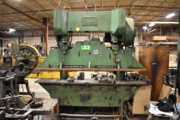 CHICAGO 50TON 8' MECHANICAL PRESS WITH 6'X10GA CAPACITY WITH UNI-PUNCH TOOLING, S/N: L-10321 [