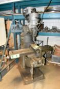 """BRIDGEPORT MILL WITH 9""""X42"""" T-SLOT TABLE, SPEEDS UP TO 2,720RPM, S/N: J87582 [RIGGING FEE FOR LOT #2"""