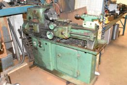 """HARRISON GAP BED TOOL ROOM LATHE WITH 12.5"""" SWING OVER BED, 19"""" BETWEEN CENTERS, 1.25"""" BORE, 8"""" 3-"""