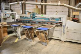 GIBEN PRISMATIC 100 12' CNC PANEL SAW WITH MICROCONTROLLER MCL CNC CONTROL, POWERFEED, PNEUMATIC