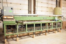 """UNIC 32 VERTICAL UP-ACTING PANELSAW WITH 13'X7' TABLE, 12"""" SAW BLADE, S/N: N/A"""