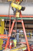 VULCAN-HOIST 2TON CAPACITY ELECTRIC CHAIN HOIST WITH POWER TROLLEY, S/N N/A [RIGGING FEE FOR LOT #