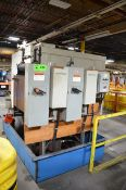 LLOYDS ELECTRIC TWIN 100HP HYDRAULIC POWER PACK WITH TANK AND PUMPS, S/N N/A [RIGGING FEE FOR LOT #