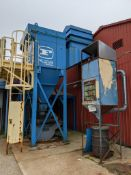 FARR OUTDOOR PAD TYPE CYCLONIC DUST COLLECTOR WITH PRATER STERLING DCS-10S ROTARY GATE DISCHARGE