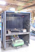 CUSTOM SPRAY BOOTH WITH BLOWER FAN, S/N N/A [RIGGING FEE FOR LOT #449 - $20 USD PLUS APPLICABLE