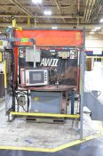 MOTOMAN AW II ROBOTIC WELDING CELL WITH ALLEN BRADLEY PANELVIEW 1000 TOUCH SCREEN PLC CONTROL;