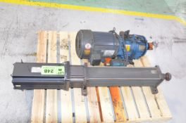 LOT/ ALLEN BRADLEY 10HP AC SERVO DRIVE WITH EXLAR FT SERIES LINEAR ACTUATOR AND HYDRAULIC PUMP [