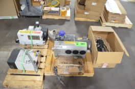 LOT/ (3) PALLETS WITH DRIVES, MOTORS, VACUUM PUMPS AND GEAR REDUCERS [RIGGING FEE FOR LOT #501 - $50