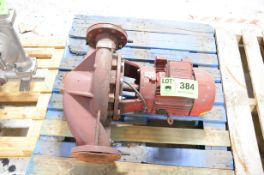 TVS 4X4X10 CENTRIFUGAL PUMP WITH 7.5HP MOTOR, S/N N/A [RIGGING FEE FOR LOT #384 - $25 USD PLUS