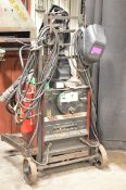 LINCOLN ELECTRIC IDEALARC 250 PORTABLE ARC WELDER WITH CABLES, GUN, AND WELDING SUPPLIES, S/N N/A [
