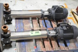 LOT/ (2) GRUNDFOS TYPE CRS HIGH PRESSURE CENTRIFUGAL PUMPS WITH 7.5HP MOTORS [RIGGING FEE FOR LOT #