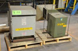 LOT/ HAMMOND 30KVA/600-208V/3PH/60HZ TRANSFORMER AND AX-31 EXHAUST BLOWER [RIGGING FEE FOR LOT #