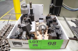 LOT/ LATHE TOOL HOLDERS [RIGGING FEE FOR LOT #98 - $20 USD PLUS APPLICABLE TAXES]