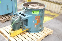 BALDOR AXIAL FAN WITH ELECTRIC MOTOR, S/N N/A [RIGGING FEE FOR LOT #281 - $25 USD PLUS APPLICABLE