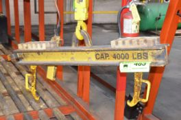 4,000LB CAPACITY FORKLIFT BATTERY SPREADER BEAM LIFTING ATTACHMENT, S/N N/A [RIGGING FEE FOR LOT #