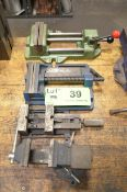 LOT/ (4) DRILL VISES [RIGGING FEE FOR LOT #39 - $20 USD PLUS APPLICABLE TAXES]