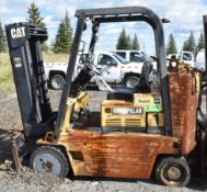 """CATERPILLAR T80D STR 8000 LB. CAPACITY LPG FORKLIFT WITH 117"""" MAX. LIFT HEIGHT, S/N: N/A (NOT IN"""