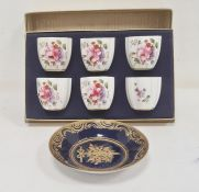 18th century Sevres porcelain saucer, the royal blue ground with gilded C-scroll border, ribbon