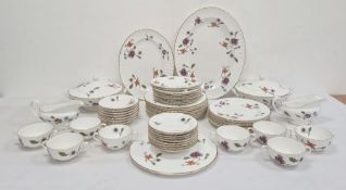 Royal Worcester china dinner service, Astley pattern, mainly for eight persons to include two