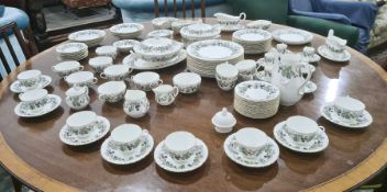 "Royal Worcester china dinner service, ""Lavinia"" pattern, mainly for 12 persons, to include salad"