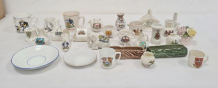 Quantity Crested items including Shelley and others (1 box)