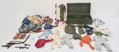 Action Man (damaged), quantity Action Man outfitsincluding astronaut and accessories including skis