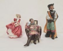 Royal Doulton figures 'The Foaming Quart' HN2162, 'Cavalier' HN2716 and 'Top O'The Hill' HN1834 (3)