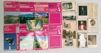 Large quantity of mapsand large quantity of postcards, mainly topographical