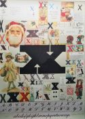 After Sir Peter Blake (b.1932) Screenprint in colours Letters X, Y and Z from the Alphabet Series,