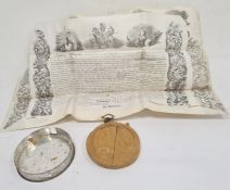 Victorian vellum patent dated 26 October 1855 and awarded to James Henry Smith of Connaught Terrace,