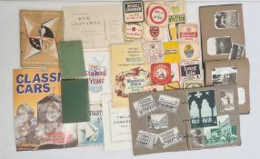 Quantity vintage photographs, ephemera, beermats and other items (2 boxes) Condition Reportplease