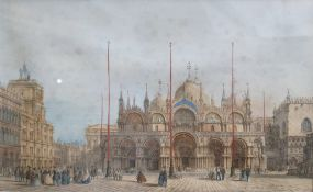 After Giovanni Pividor (1812-1872) Coloured lithographs Six Venetian views, each 16cm x 25cm (6)