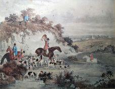 Samuel Howitt (1765-1822) Three colour prints Duck Shooting, Grouse Shooting and Pheasant Hawking